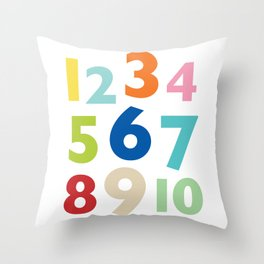 numbers  Throw Pillow