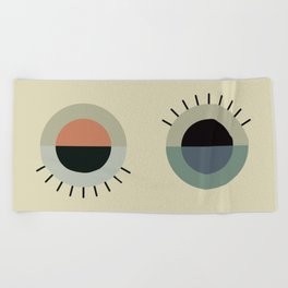 day eye night eye Beach Towel