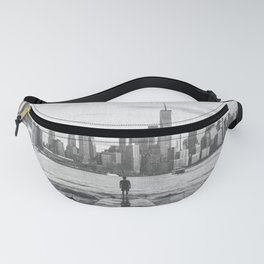 New York City Skyline Views and Vibes Black and White Fanny Pack
