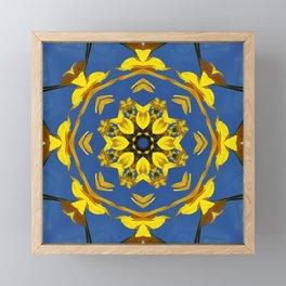Yellow Coneflower, Ratibida, Kaleidoscope 793 #society6 #kaleidoscope Framed Mini Art Print