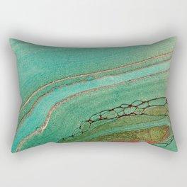 teal gold and pink acrylic agate Rectangular Pillow