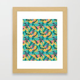 Blocky Tui Heart Print Framed Art Print