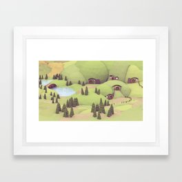 House Holes Framed Art Print