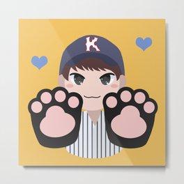 Seventeen Kpop - Cat Paw Woozi Metal Print