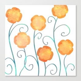 Silly Poppies Canvas Print