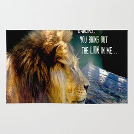Darling You Bring Out The LION In Me... Rug