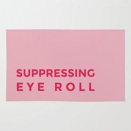 Suppressing eye roll Rug