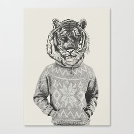 Hipster Urban Tiger Canvas Print