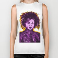 johnny depp Biker Tanks featuring Edward Scissorhands (Johnny Depp) by Art of Fernie