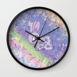 Brave Little Bunny Wall Clock