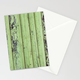 Rustic mint green grunge wood panels Stationery Cards