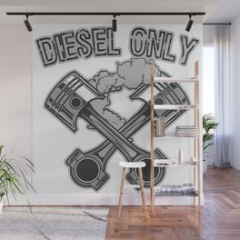 Diesel Only Fuel Gas Garage Shifts Track Wall Mural