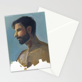 BRAD, Semi-Nude Male by Frank-Joseph Stationery Cards