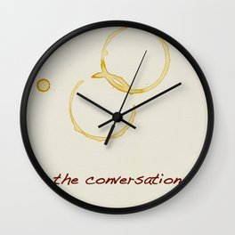 """Let's start the conversation"" Wall Clock"