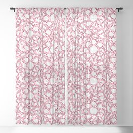 Candy cane flower pattern 3 Sheer Curtain