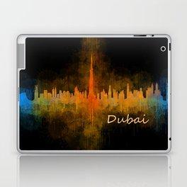 Dubai, emirates, City Cityscape Skyline watercolor art v4 Laptop & iPad Skin