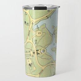 Vintage Map of Central Park NYC (1866) Travel Mug