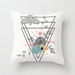 Geometric Nature Throw Pillow