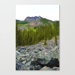 Geraldine Lakes Hike in Jasper National Park, Canada Canvas Print