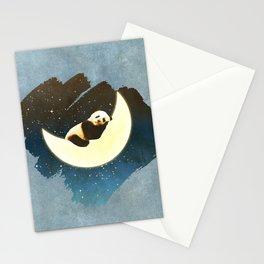 Sleeping Panda on the Moon Stationery Cards