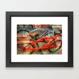 New Belgium Bikes Framed Art Print