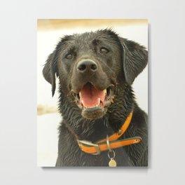 Wet, Sandy n Happy Metal Print