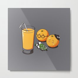 Oranges Are Grieving Metal Print