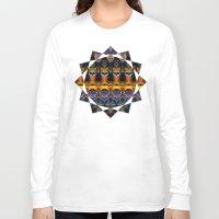 the life aquatic Long Sleeve T-shirts featuring Aquatic by Zandonai Pattern Designs