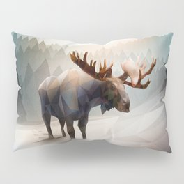 Moose (Low Poly Mystical) Pillow Sham