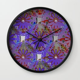 Medallions Re-visited 4 Wall Clock