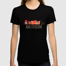 Amsterdam City Netherlands Souvenir Style Design T-shirt