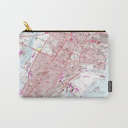 Vintage Map of Jersey City NJ (1967) Carry-All Pouch