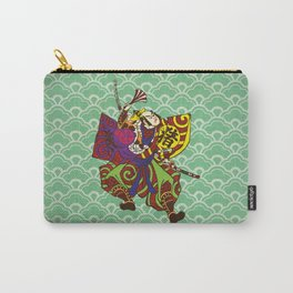 Samurai with vintage japan painting style Carry-All Pouch