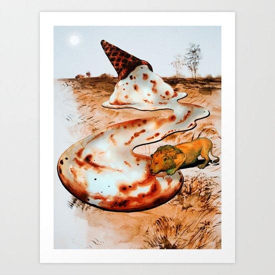 Dessert from Above Art Print