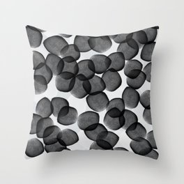 Watercolor Dots Throw Pillow