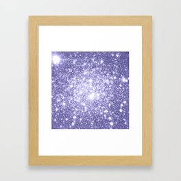 Galaxy Sparkle Dark Lavender Framed Art Print