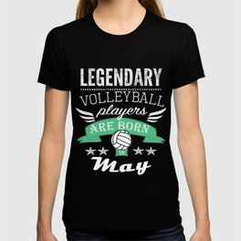 Legendary Volleyball Legends are Born in May boys T-shirt