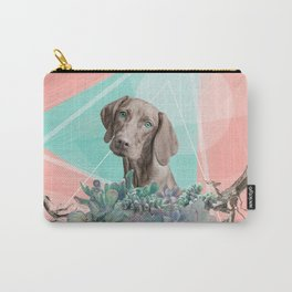 Eclectic Geometric Redbone Coonhound Dog Carry-All Pouch