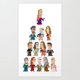 Jesus and the Apostles Iotacons Art Print