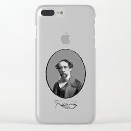 Authors - Charles Dickens Clear iPhone Case