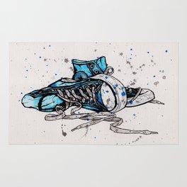 Blue Chucks Rug