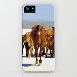 Pony leading the mob home iPhone Case
