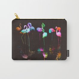 Rainbow Flamingos Carry-All Pouch