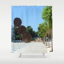 Tel Aviv photo - Habima Square - Israel Shower Curtain