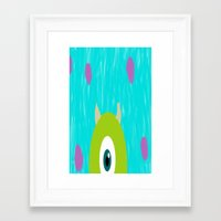 monsters inc Framed Art Prints featuring Monsters Inc by amalchristine
