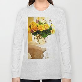 Bouquet of Roses on Pedestal Long Sleeve T-shirt