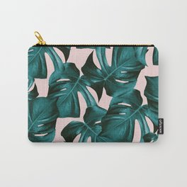 Tropical Monstera Leaves Pattern #1 #foliage #decor #art #society6 Carry-All Pouch