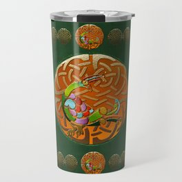 Peacock Celtic Deco Travel Mug
