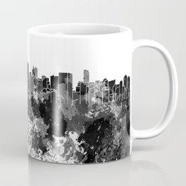 Miami skyline in black watercolor Coffee Mug