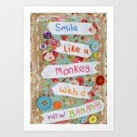 Monkey Narna Art Print
